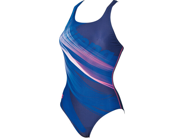arena Prisma V Back L One Piece Swimsuit Women navy-aphrodite